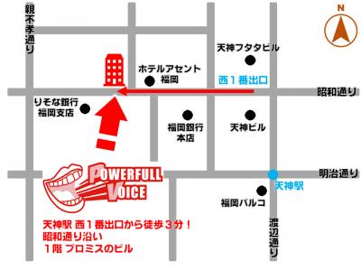 地図 福岡・天神校